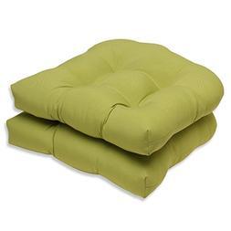 Pillow Perfect Outdoor/Indoor Fresco Pear Wicker Seat Cushio