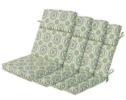Bossima Indoor/Outdoor Green/grey Damask High Back Chair Cus