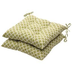 Pillow Perfect Indoor/Outdoor Geometric Tufted Seat Cushion,