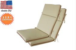Bossima Indoor/Outdoor Light Khaki High Back Chair Cushion,