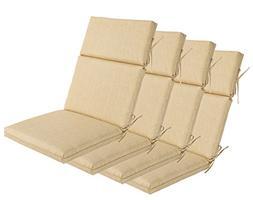 Bossima Indoor/Outdoor Light Yellow/Cream High Back Chair Cu