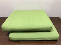 Pillow Perfect Indoor/Outdoor Green Textured Solid Square Se