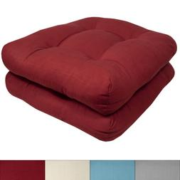 Indoor-Outdoor Reversible Patio Seat Cushion Pad 2, 4, 6, or