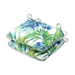 Pillow Perfect Outdoor/ Indoor Soleil Blue/Green Rounded Cor