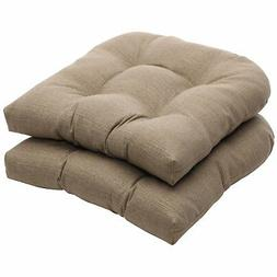 Pillow Perfect Indoor/Outdoor Taupe Textured Solid Wicker Se