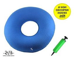 Premium Inflatable Donut Cushion Expands Up to 15 inches Com