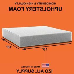 IZO Home Goods High Density Upholstery Foam Seat Cushion - 1