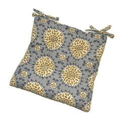 Johara Slate Tufted Seat Cushion w/ Ties for Chair - Choose