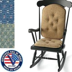 Klear Vu Raindrops Gripper 2pc Rocker Chair Cushion