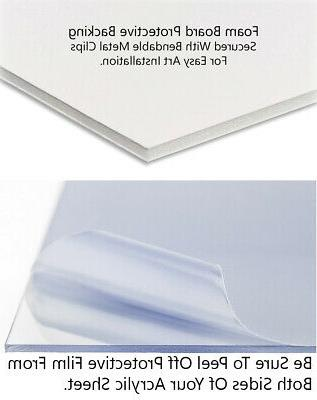16x16 Silver Metallic Wood Frame 'Brushed Steel' Thin for Posters, Pho