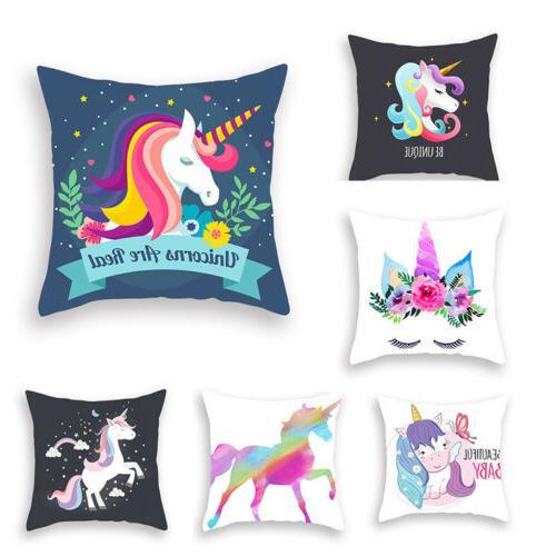 17 17 cushion cover unicorn pattern sofa