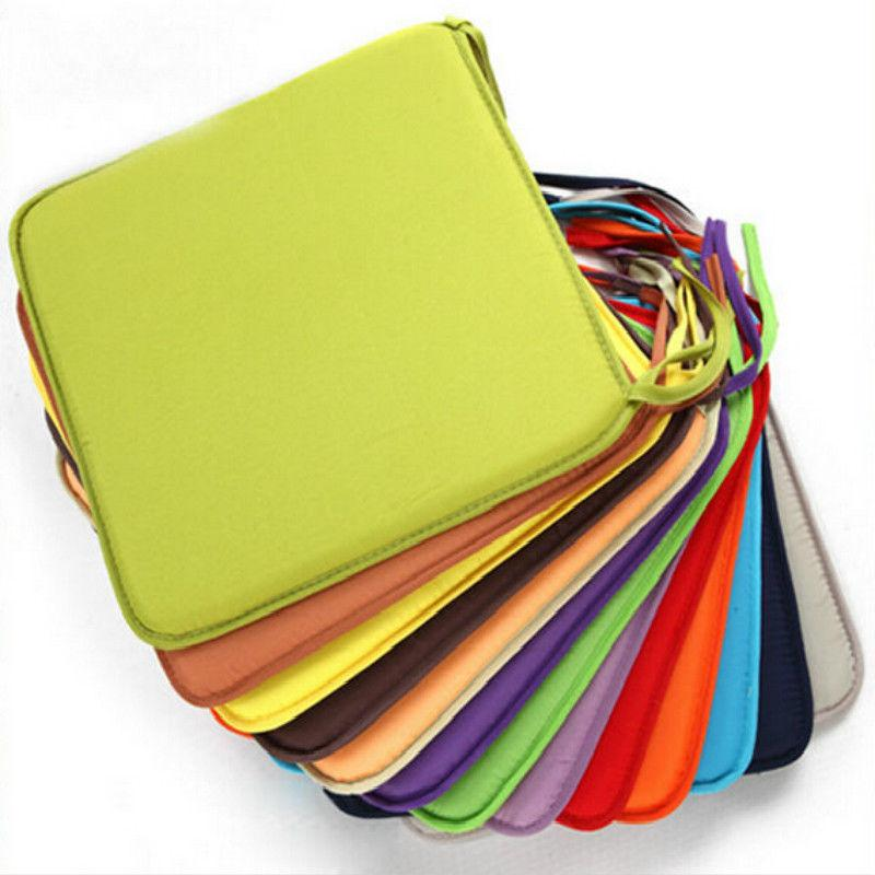 1Pc Cushion Office Chair Garden Indoor Dining Seat Pad Tie O