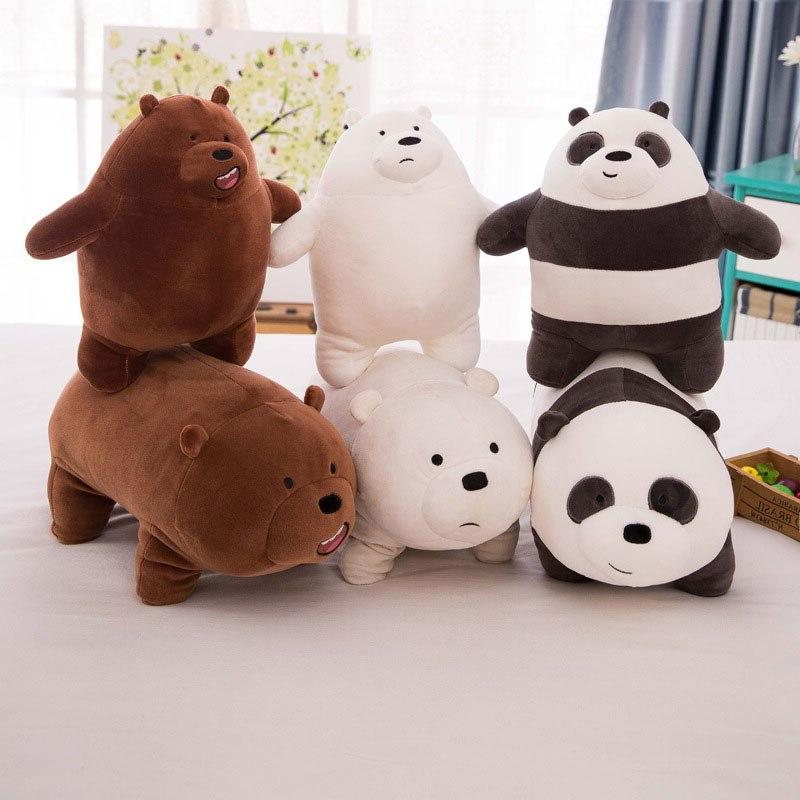 1pcs 25cm three of us naked bears