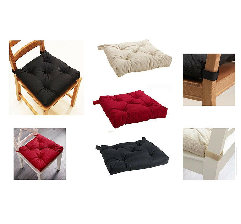 2 chair pads malinda cushion seat black