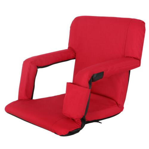Easy Carry Stadium Seats Chairs Red Bleachers Benches W/ Pad