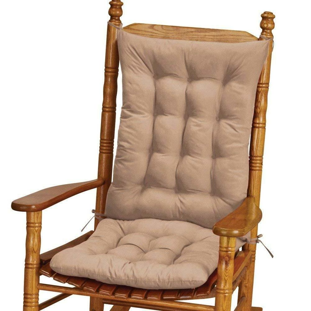 2 pc quilted rocking chair armchair cushion