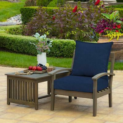 "24"" Deep Seat Patio Cushions Set of 2 UV Fade Resistant"
