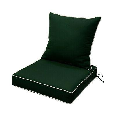 "24"" x 24"" x 5"" Green Deep Cushion Back"