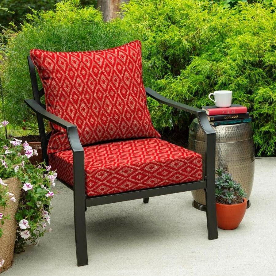 2pc Ruby Deep Seat Cushion Chair Cover Deck