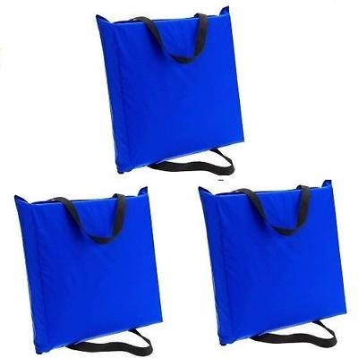 3 Boat Seat Cushions Blue Throwable Preserver Personal Flota