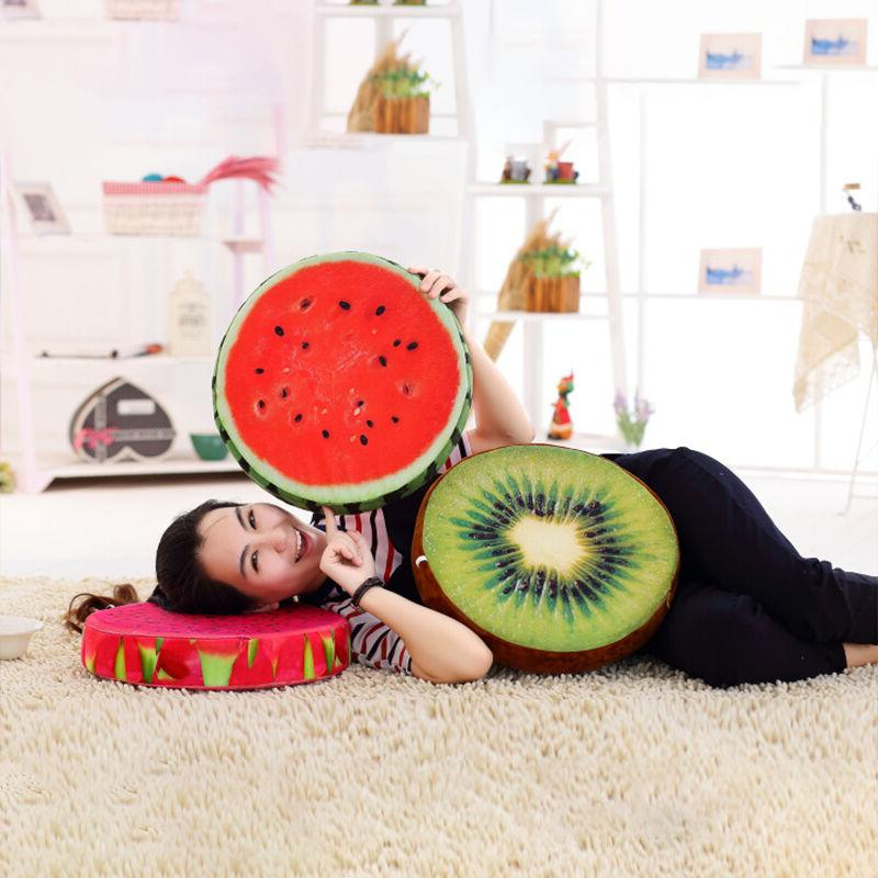3D Fruit Cushion Kitchen Seat Car Home