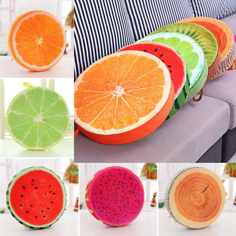 3d fruit cushion dining kitchen patio seat