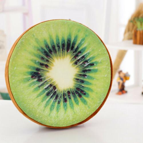 3D Fruit Back Throw Pillow Round Cushion Pad