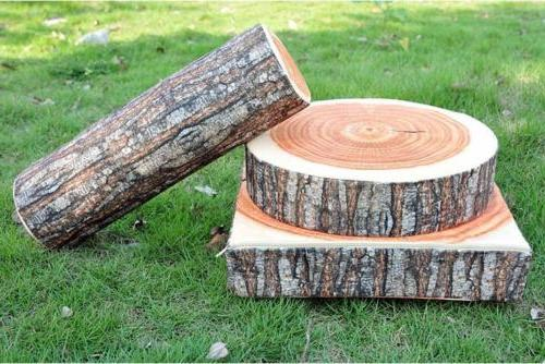 3D Log Couch Throw Pillow Soft Cushion Seat Pad D