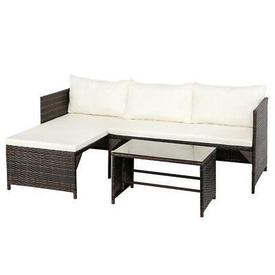 3PCS Set Lawn Table Set /w PE US