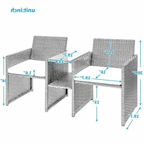 Table Chairs Garden Outdoor Seat