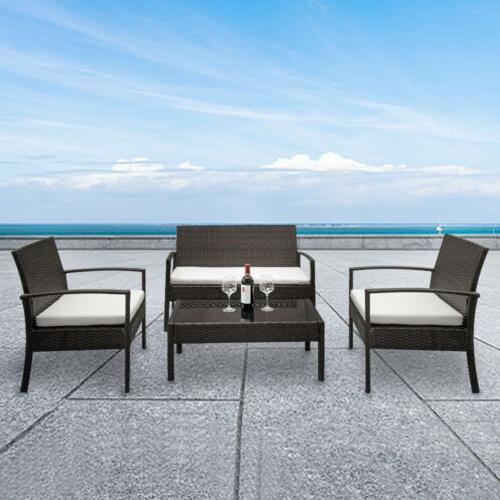 4 Furniture Garden Lawn Sofa Mix Wicker