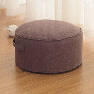 40cm Round Floor Pillow Straw Meditation Mat