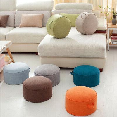 40cm Pouf Floor Pillow Seat Cushion Straw Soft Mat