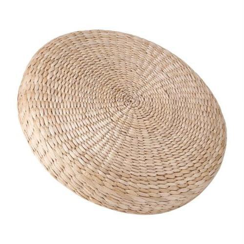 40cm Round Floor Pillow Cushion Straw Yoga Mat