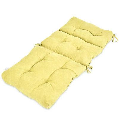 """44"""" High Back Chair Cushion Tufted Pillow Indoor Outdoor Swi"""