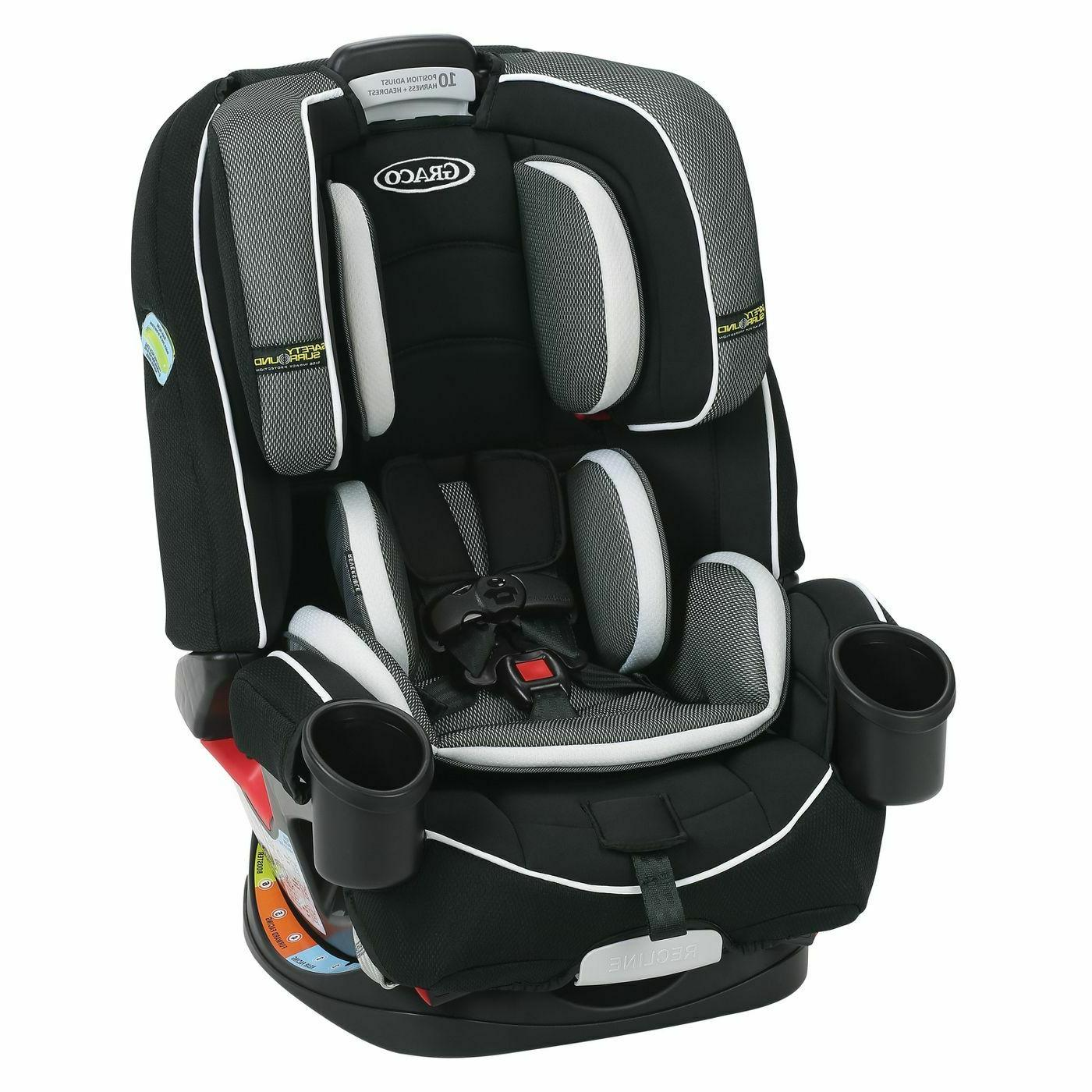 Graco 4Ever All-In-One Convertible Car Seat w/ Safety Surrou