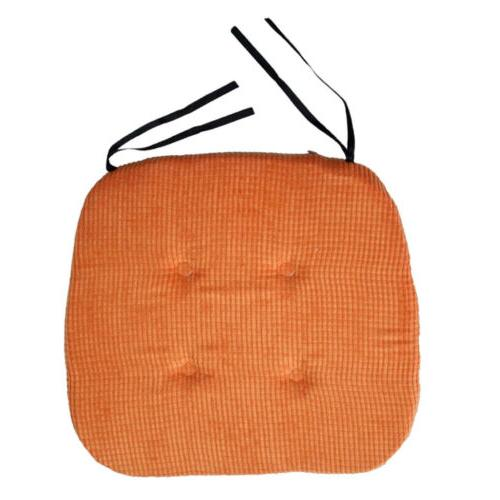 Chair Pads w/Ties Square Seat Cushions for Dining, Patio, Ki