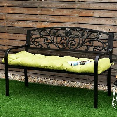 51 Inch Tufted Pillow Swing Glider Sit Seat Kiwi