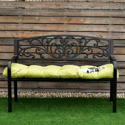 51 Inch Tufted Pillow Outdoor Swing Glider Kiwi