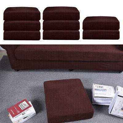 8pcs soft stretch sofa seat cushion cover