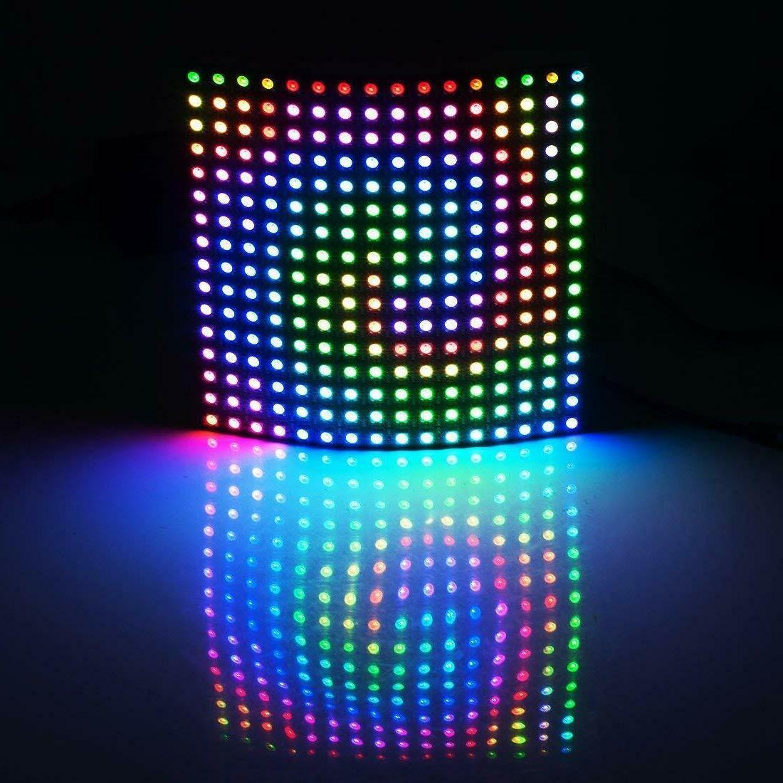8x8 16x16 WS2812B 5050 Flexible LED Pixels Screen DC5V