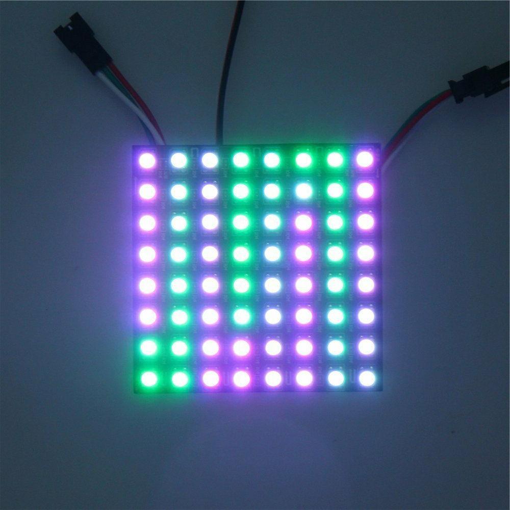 8x8 8x32 WS2812B 5050 Addressable Flexible LED DC5V