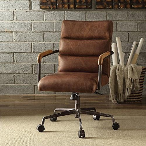 Acme Furniture Top Grain Leather Chair Retro Brown