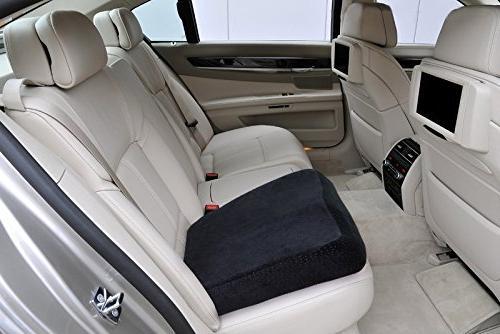 AERIS Foam Premium Large Office with Buckle Prevent Sliding-Car with Machine Black Plush Cover