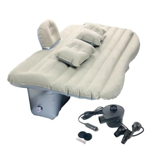 Car Inflatable Mattress Back Seat Cushion Two Pillows Camping