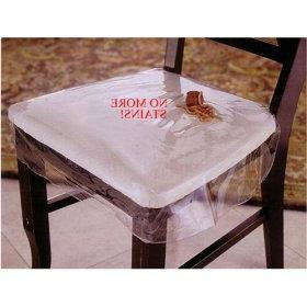 LAMINET Vinyl Chair Protectors, Clear, 26X253/4-Inch, Fits C