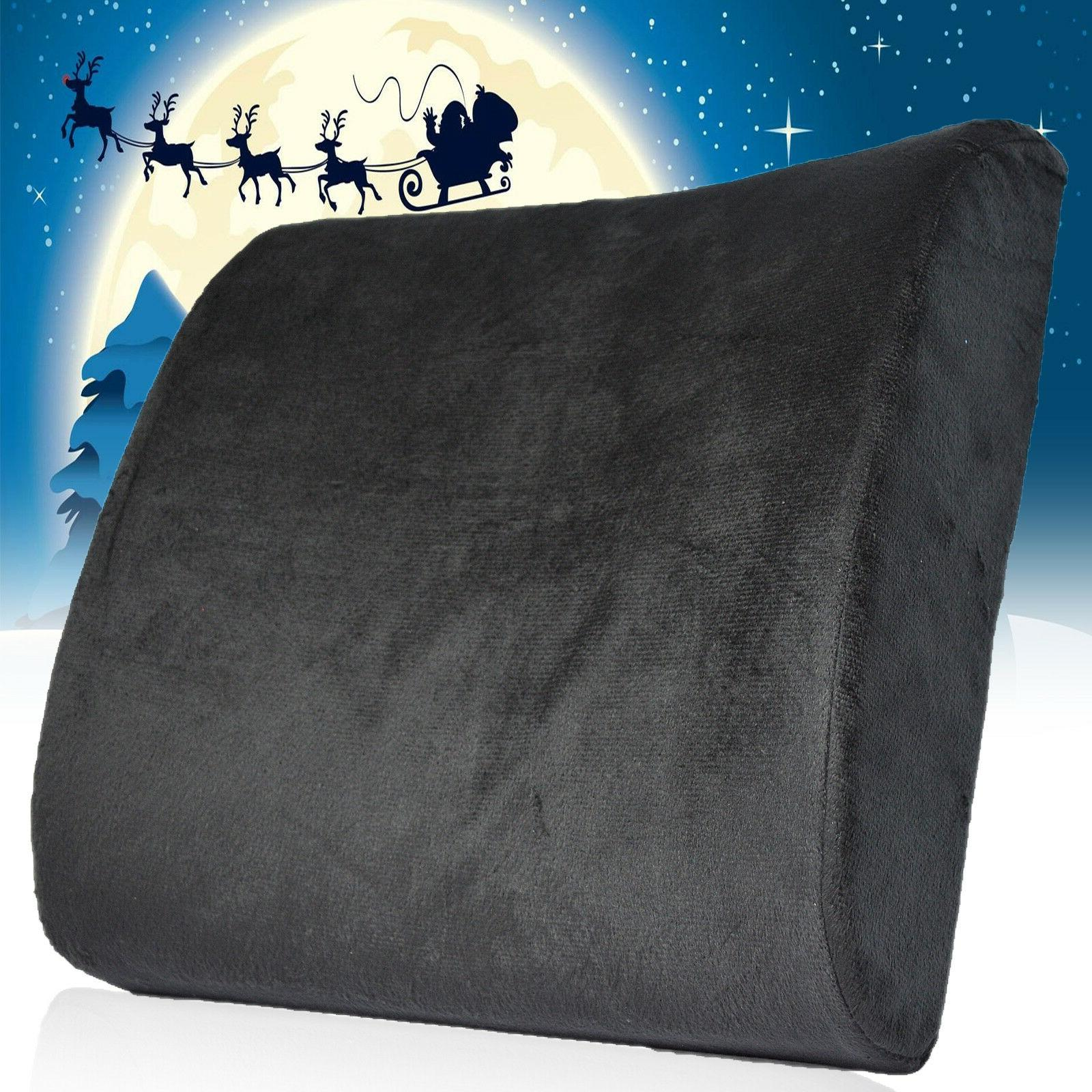 Lumbar Cushion Back Support Travel Pillow Memory Foam Car Se