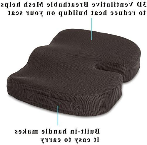 TravelMate Coccyx Gel-enhanced Memory Seat Fabric