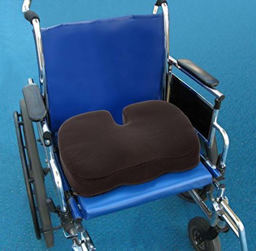 TravelMate Orthopedic Memory Foam Cushion with Non-slip Silicone Coated Fabric