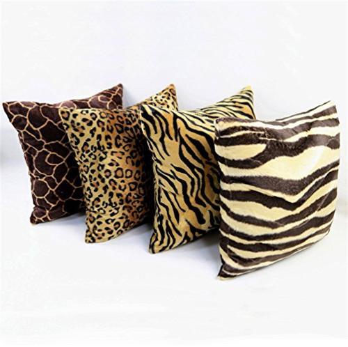 "13"" 19"" Fur Cushion Covers Style Square Throw Cushion Seat"